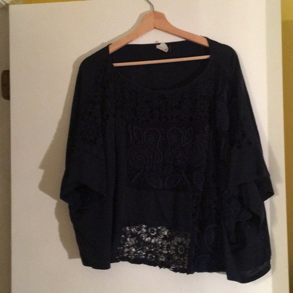 Anthropologie Tops - Anthropologie lace boxy shirt